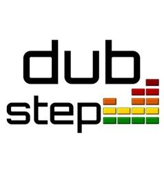 dubstep with dj equalizer music volume -on alpha vector image