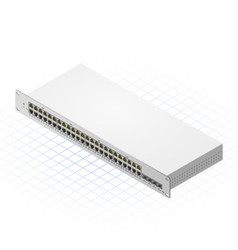 Isometric Switch with SFP Port vector image