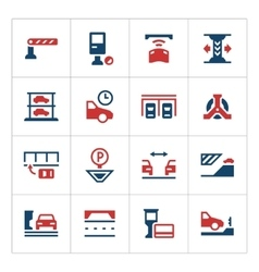 Set color icons of parking vector image vector image
