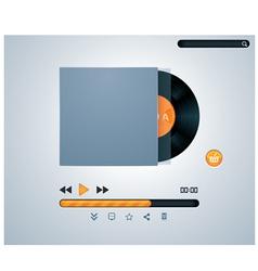 vinyl disk in envelope music player vector image vector image