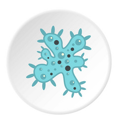 bacteria icon circle vector image