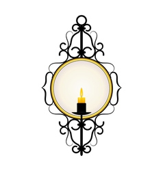 candle frame vector image vector image