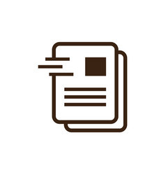 document office icon logo vector image