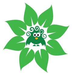 eco bird green vector image