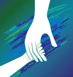hand inside father vector image vector image