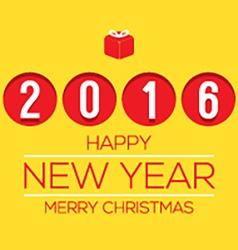 2016 Flat Design New Year Card vector