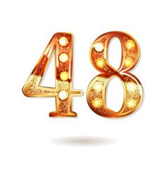 48 years anniversary celebration logotype vector image