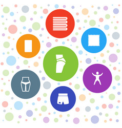 7 fitness icons vector