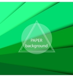 Abstract background with green paper sheets vector image