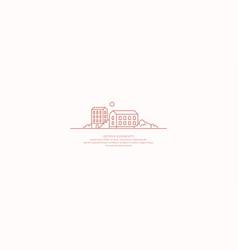 an emblem depicting houses multi-storey buildings vector image