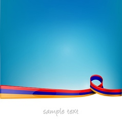 Armenia ribbon flag vector