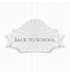 Back to School curved Label vector