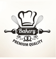Bakery stylized emblem or label in retro style vector