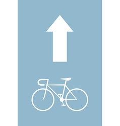 bicycle arrow vector image