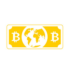 Bitcoin world money global cryptocurrency is vector