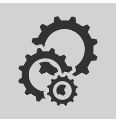 Black cogs gears vector
