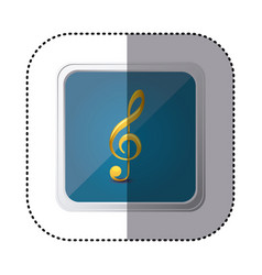 Blue symbol music sign icon vector