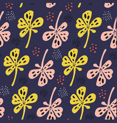 botanical multicolor seamless pattern vector image