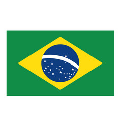 brazil flag isolated icon vector image vector image