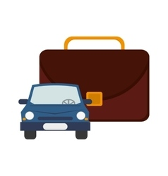Briefcase and car icon vector