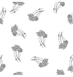 Calligraphy daikon path pattern vector