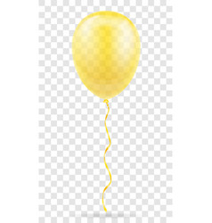 celebratory yellow transparent balloon pumped vector image