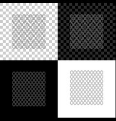 chain fence icon isolated on black white and vector image