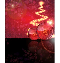 Christmas balls with abstract patterns vector image