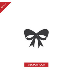 christmas ribbon icon vector image