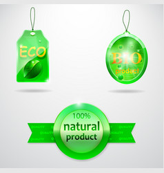 Collection-of-3-bio-labels vector