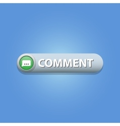 Comment button vector