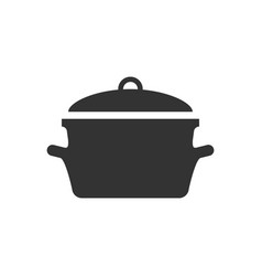 Cooking pan icon in flat style kitchen pot on vector