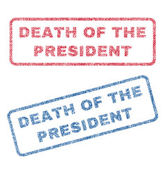 Death of the president textile stamps vector