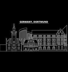 dortmund silhouette skyline germany - dortmund vector image