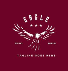 eagle fly logo vector image