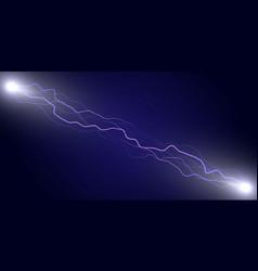 electric lightning thunder vector image