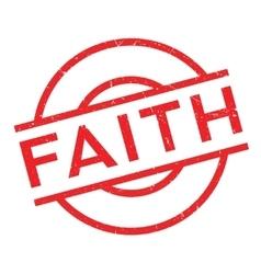 Faith rubber stamp vector