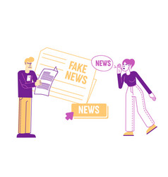 fake news information and disinformation male vector image