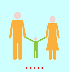 family set it is color icon vector image