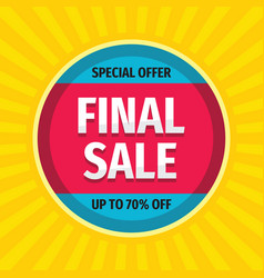 final sale - concept promotion banner abstract vector image