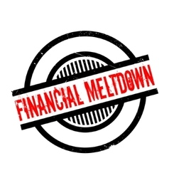 Financial Meltdown rubber stamp vector image