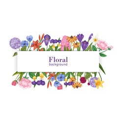 floral background with summer flower bouquet vector image