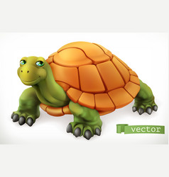 Funny turtle 3d icon vector