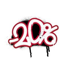 Graffiti lettering discount -20 percent vector