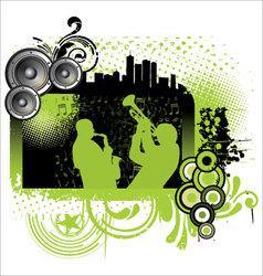 Grunge jazz music background vector image