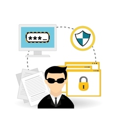 hacker icon design vector image