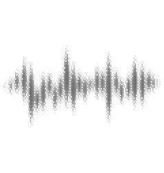halftone pattern audio waveform sound wave vector image