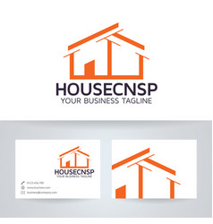 house concept logo design vector image