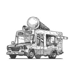 ice cream van vector image