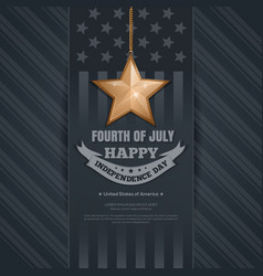 Independence day card 4th of july vector